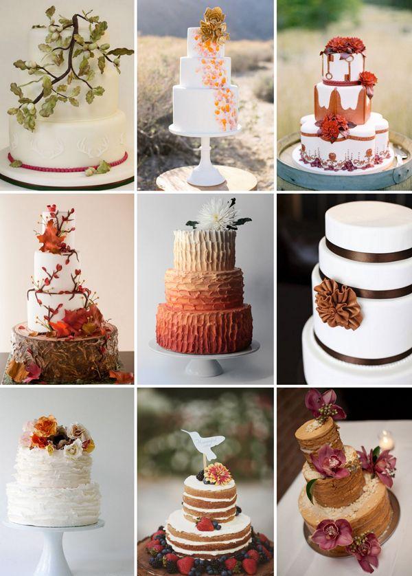 Autum Wedding Cakes Consejos para una barra de caramelo del otoño y un pastel de boda para el otoño | Frieda Theres