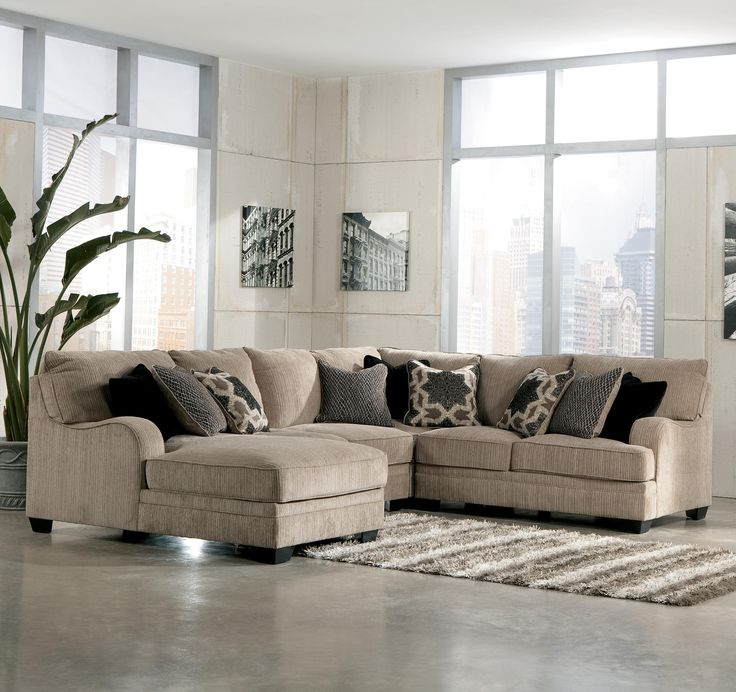 Katisha Platinum 4 Piece Sectional Sofa With Left Chaise