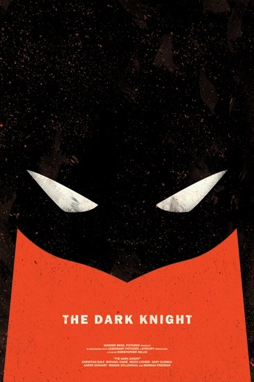 Cool play on the Dark Knight movie poster. More cool posters on this site if you click through