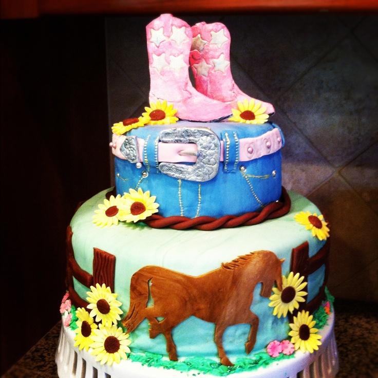 cowgirl birthday cake photos