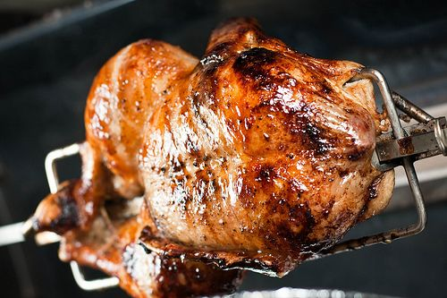 Rotisserie Duck with Orange Chipotle Sauce