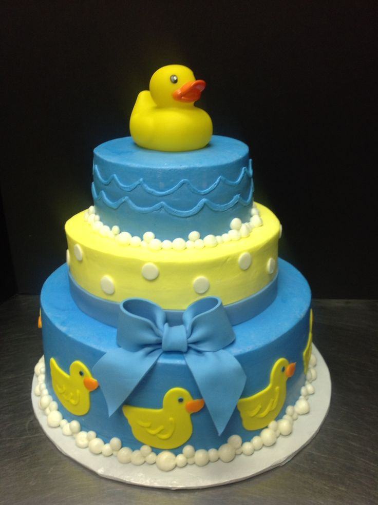 Rubber Ducky Cake Birthday Party Ideas and Decorations ...