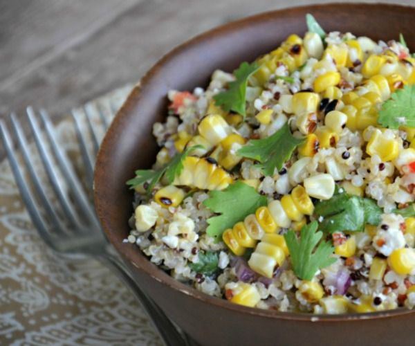 Grilled Corn and Quinoa Salad | Foods to try | Pinterest