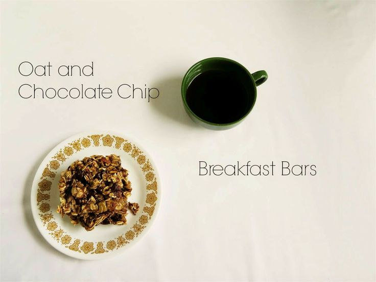 Oat and Chocolate Chip Breakfast Bars | Food Love | Pinterest