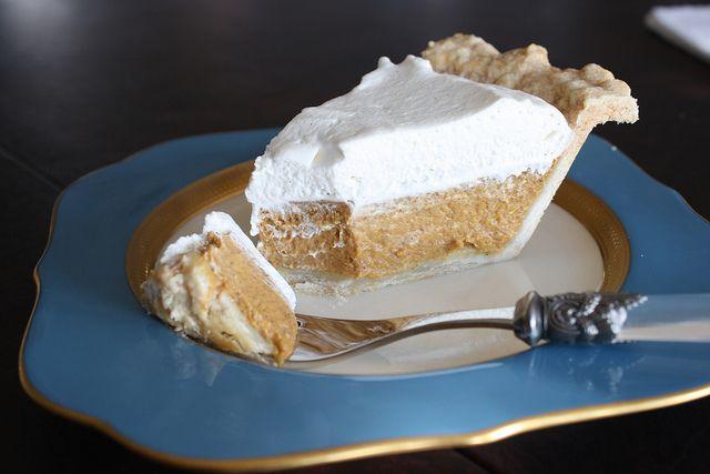 Pumpkin-Vanilla Cream Pie | Recipes - Pie | Pinterest