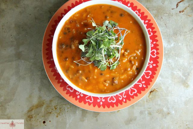 Spicy Tomato Lentil Soup by Heather Christo