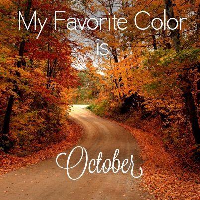 favorite color october ah fall