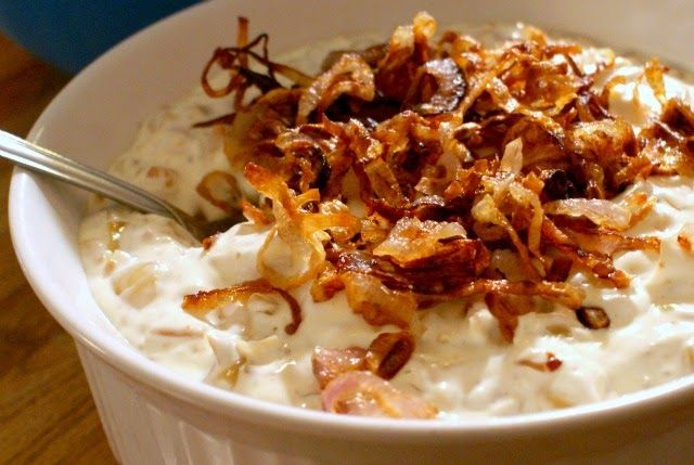 Caramelized Onion Dip with Bacon - a party-perfect cold dip full of ...