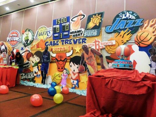 Basketball Stage Backdrop Party Decor By J amp Balloon