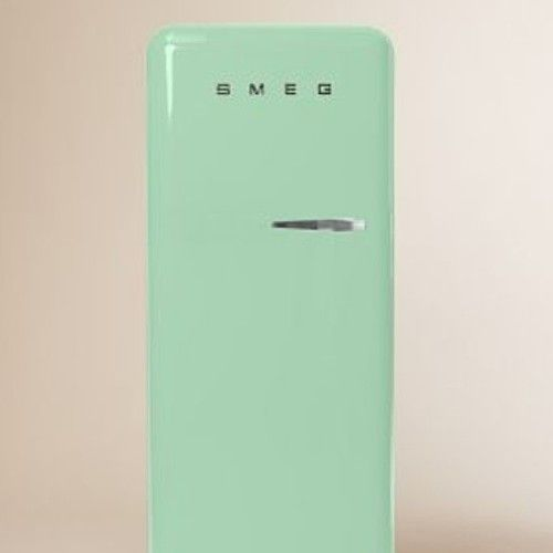 Someday we will have an office with this mint green fridge. SMEG.