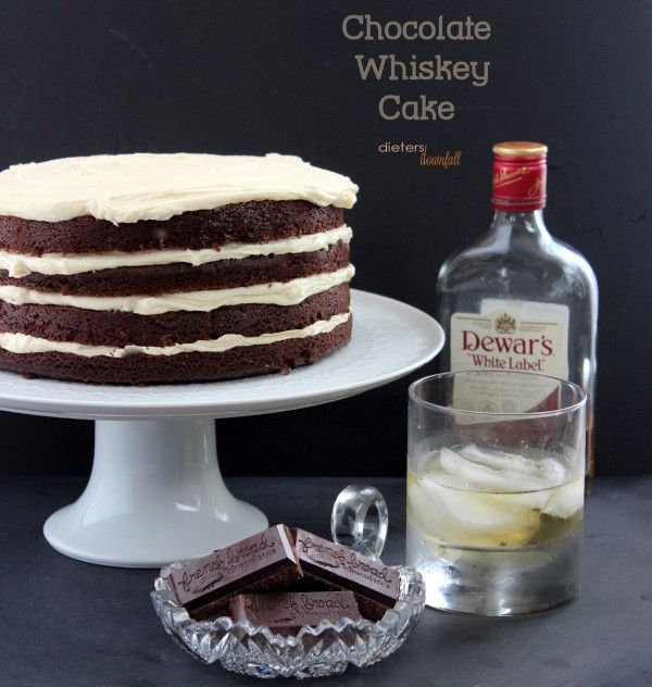 Chocolate Whiskey Cake with Homemade Dulce de Leche Buttercream. from ...