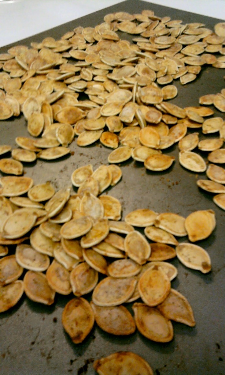 Roasted Pumpkin Seeds | my yellow umbrella. I've done this many times ...