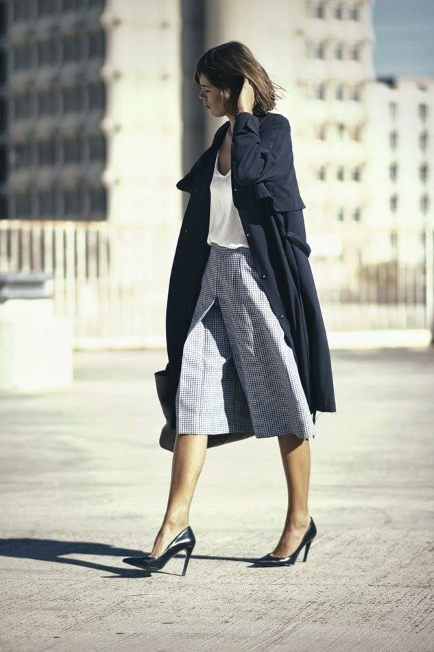 Masculine inspired culottes - wish they were a tad bit longer though.