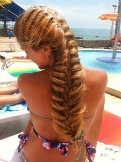Massive and beautiful fishtail  braid