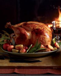 Cider-Glazed Turkey with Lager Gravy // More Amazing Turkey Recipes: http://www.foodandwine.com/slideshows/thanksgiving-turkeys #thanksgiving #foodandwine