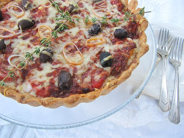 French Tomato Tart | ShesCookin.com #summer #recipe