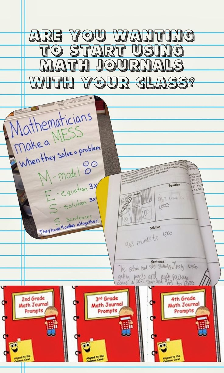 Math Journals - 2nd, 3rd, and 4th grade.  4 prompts for every Common Core Standard