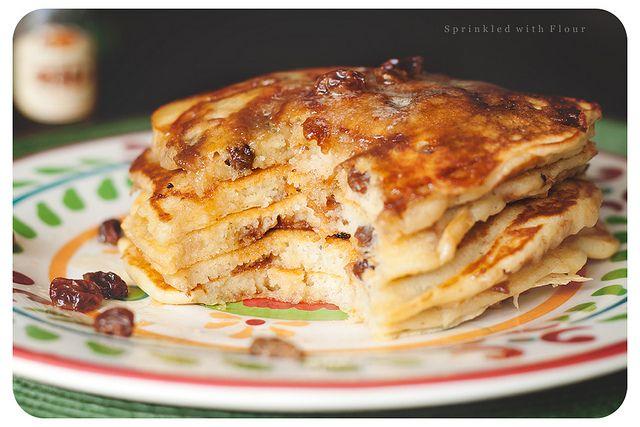 Cinnamon Rum Raisin Swirl Pancakes | Pancakes, French Toast, & Waffle ...