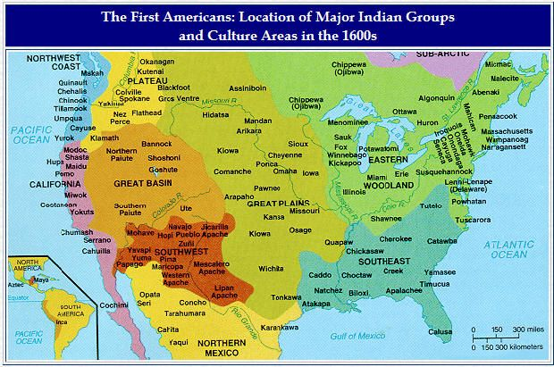 Native American Locations in 1600 Native Americans Pinterest