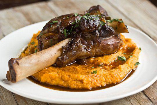 Braised Lamb Shanks & Root Vegetable Puree   Recipe