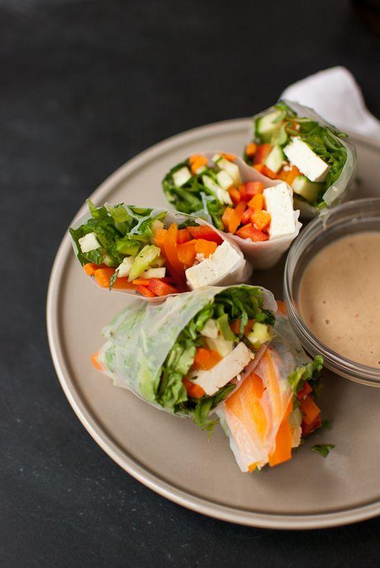 Summer Rolls with Spicy Peanut Sauce | Recipe