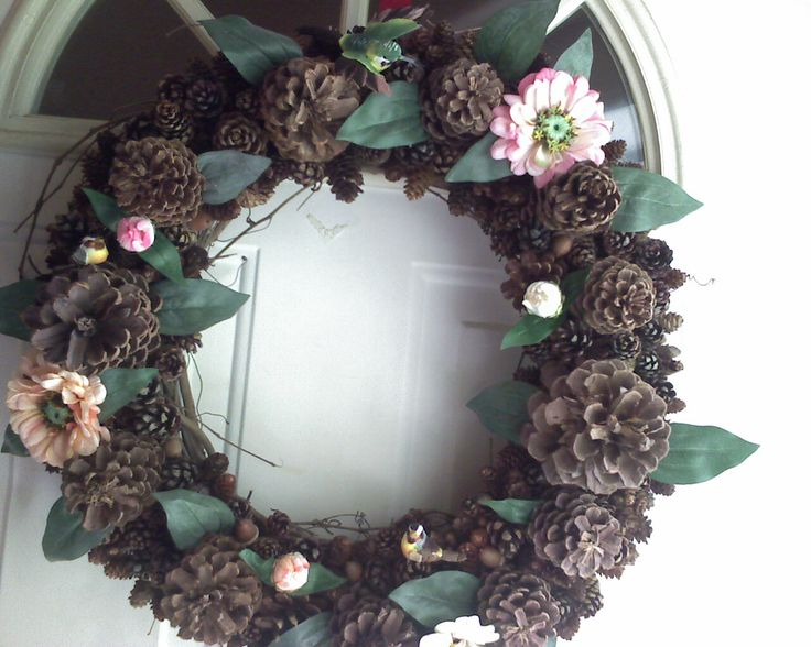 Pine Cone Spring Wreath