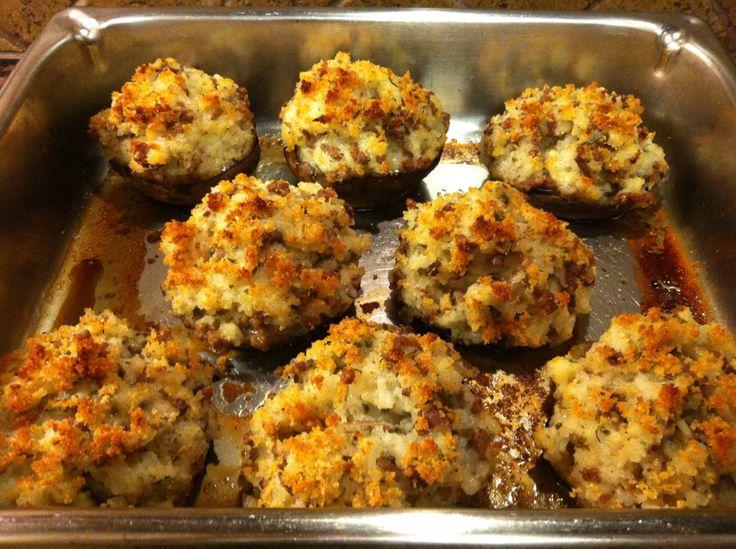 Stuffed Portobello Mushrooms | Dinner Is Served | Pinterest