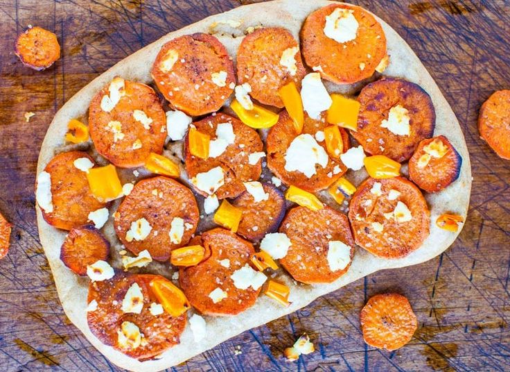 Goat Cheese and Roasted Sweet Potato Pizza