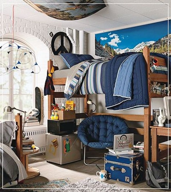 Boys Bedroom Grad College Dorm Etc Pinterest