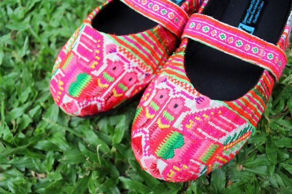 Ballet Flat Style Hmong Embroidered Birds Womens Shoes by Siamese