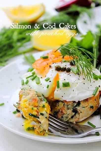 Smoked Salmon And Cod Cakes Recipe — Dishmaps