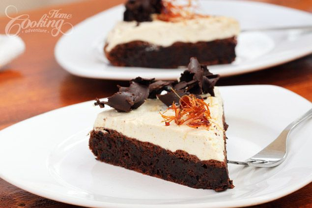 Flourless Chocolate Cake with Salted Caramel Mousse | Recipe