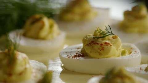 Di's Delicious Deluxe Deviled Eggs Allrecipes.com I prefer sweet chili ...