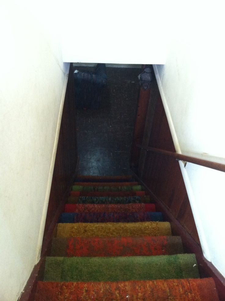 Funky stairs to basement   2111 Cornell   Pinterest