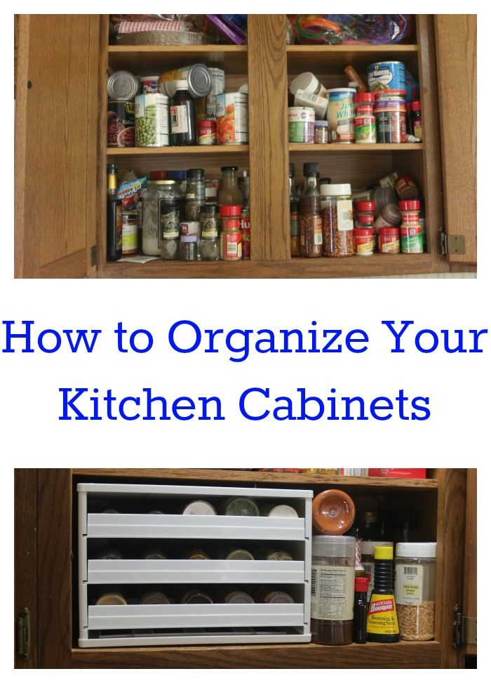 How To Organize Kitchen Cabinets Organized Spaces Pinterest