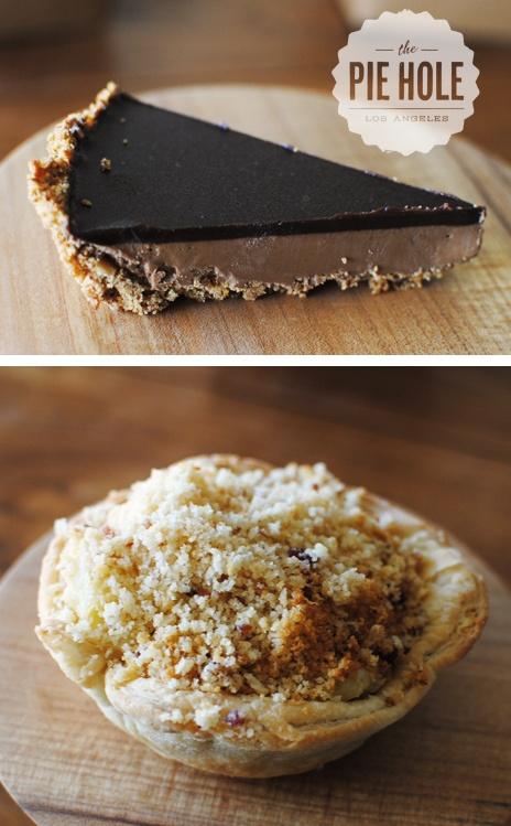 peanut butter pretzel pie + mac & cheese pie from The Pie Hole