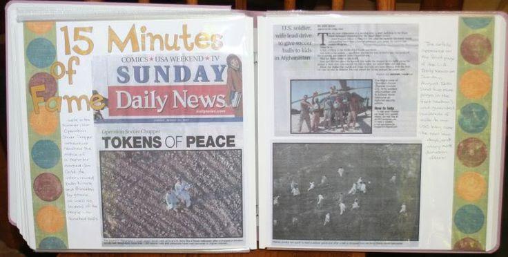 scrapbook for newspaper articles