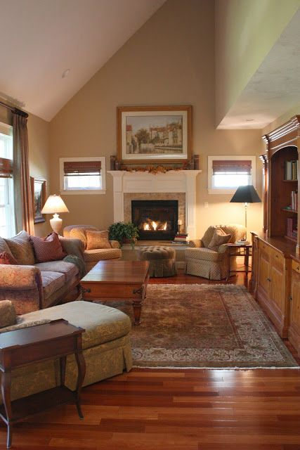 Small windows on both sides of fireplace cozy rooms for Fireplace with windows on each side