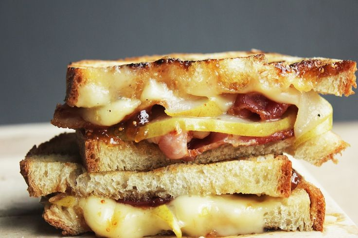 Bacon Panini with Melted Brie Cheese, Pear and Fig Jam from The Broken ...