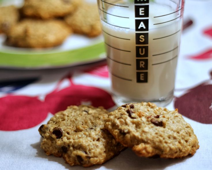 Banana Oatmeal Chocolate Chip Cookies} | Sweets | Pinterest