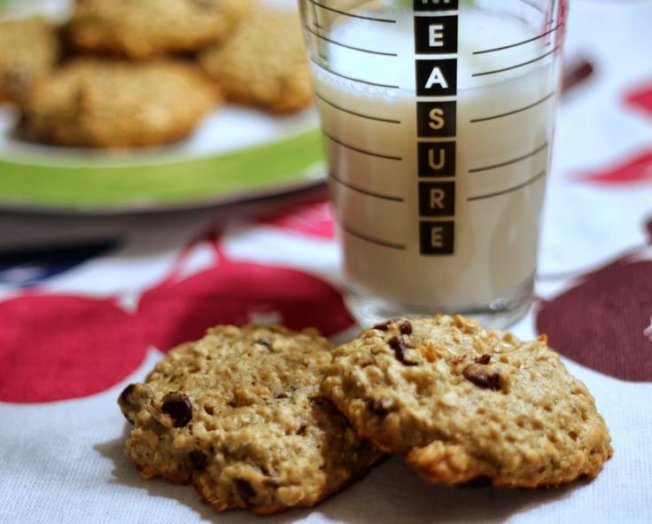 Banana Oatmeal Chocolate Chip Cookies} | Sweets | Pinterest