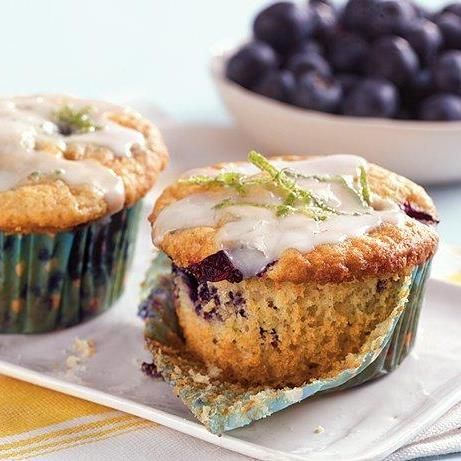 Blueberry Lime Muffins! Who wouldn't want to wake up to these?