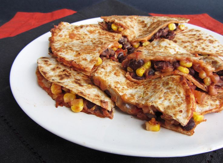 Easy black bean and corn quesadillas - incredibly simple to make (and ...