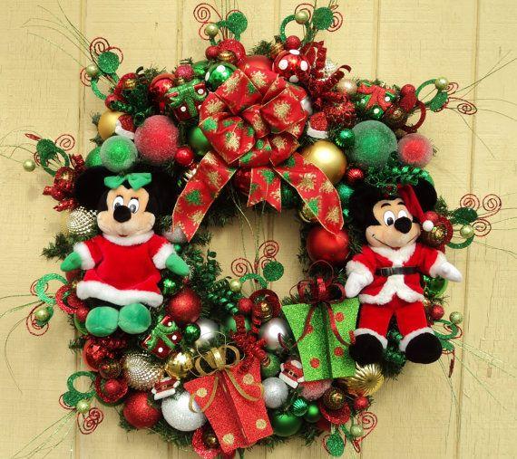 Disney christmas wreath mickey and minnie 36 quot diameter