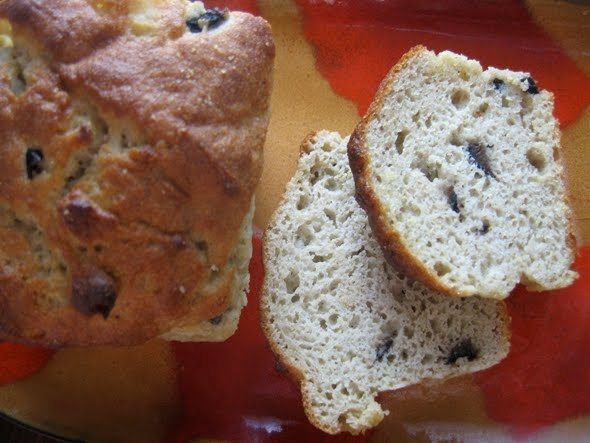 wheatless and meatless: GLUTEN-FREE ROSEMARY OLIVE COCKTAIL BREAD