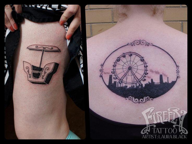 Ferris wheel tattoo laura black firefly tattoo for Ferris wheel tattoo