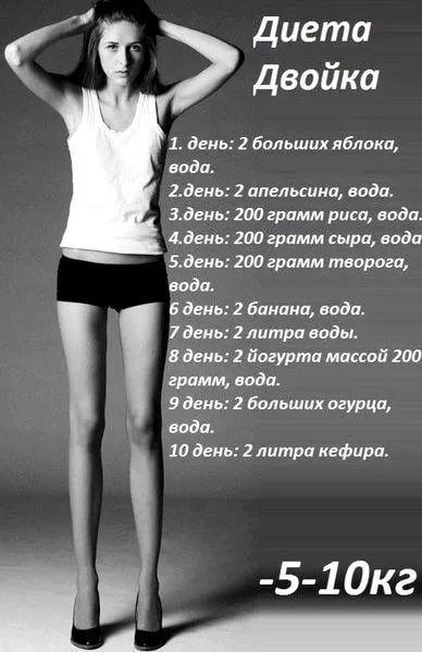 Срочная диета 10 дней минус 10 кг