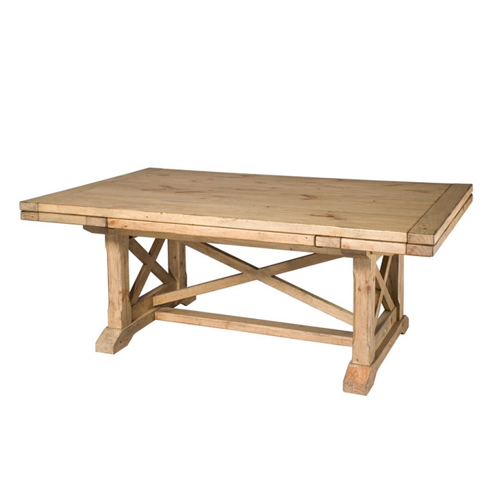 refractory trestle table kincaid dining room pinterest