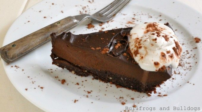 ... no bake vegan chocolate torte with coconut whipped cream {gluten-free