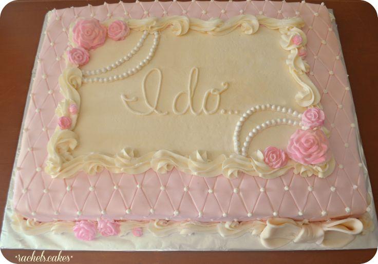 Vintage Bridal Shower Sheet Cake Cakes Cupcakes Pinterest